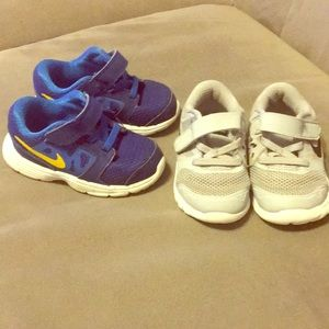 2 pairs of baby boy Nike tennis shoes